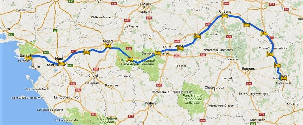 FrenchBikeTours - The Loire Valley - from Nevers to Atlantic ...