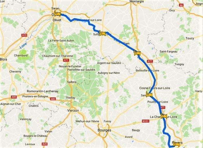 Cycling holiday in the Loire from Nevers to Orleans